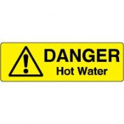 Markers safety sign - Hot Water 007